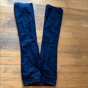 Jeans, slightly flared leg